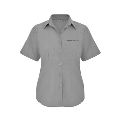 Ladies Grey SS Shirt